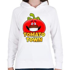 PRINTFASHION Fortnite - TOMATO TOWN - Női kapucnis pulóver - Fehér