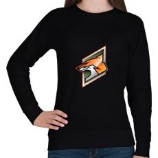 PRINTFASHION Fox - Női pulóver - Fekete
