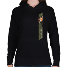 PRINTFASHION Fox Tactical - Női kapucnis pulóver - Fekete
