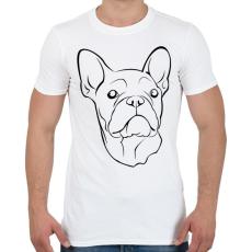 PRINTFASHION Francia bulldog - Férfi póló - Fehér