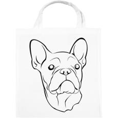 PRINTFASHION Francia bulldog - Vászontáska - Fehér