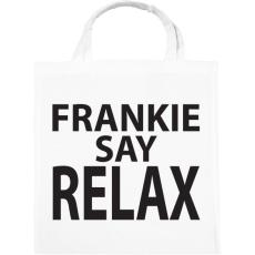 PRINTFASHION frankie-say-relax-black - Vászontáska - Fehér