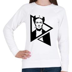 PRINTFASHION Frida Kahlo - Női pulóver - Fehér