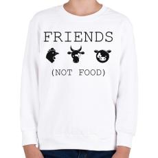 PRINTFASHION FRIENDS, NOT FOOD. - Gyerek pulóver - Fehér