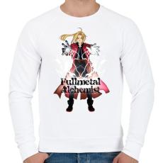 PRINTFASHION Fullmetal Alchemist - Férfi pulóver - Fehér