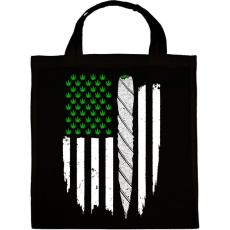 PRINTFASHION Füves zászló - Vászontáska - Fekete