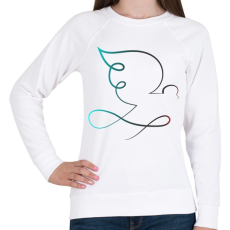 PRINTFASHION Galamb - Női pulóver - Fehér