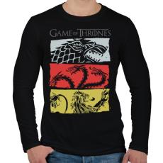 PRINTFASHION Game of Thrones - Férfi hosszú ujjú póló - Fekete