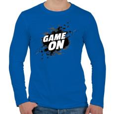 PRINTFASHION Game On - Férfi hosszú ujjú póló - Királykék
