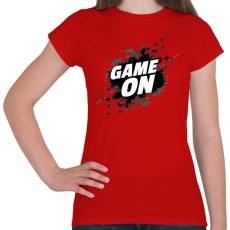 PRINTFASHION Game On - Női póló - Piros