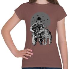 PRINTFASHION Gázmaszk - Női póló - Mogyoróbarna