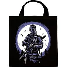 PRINTFASHION Gázmaszkos katona - Vászontáska - Fekete