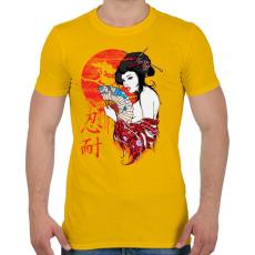 PRINTFASHION Gésa - Férfi póló - Sárga