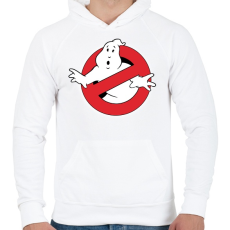 PRINTFASHION ghostbusters - Férfi kapucnis pulóver - Fehér