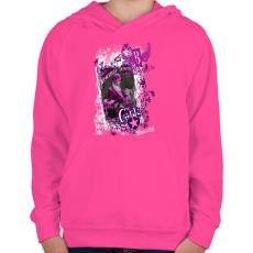 PRINTFASHION GIRLS STYLE - Gyerek kapucnis pulóver - Fukszia