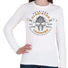 PRINTFASHION Gladiator Training - Női hosszú ujjú póló - Fehér