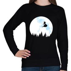 PRINTFASHION Goku holdfényben - Női pulóver - Fekete