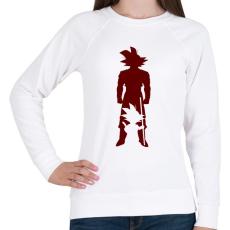 PRINTFASHION Goku - Női pulóver - Fehér