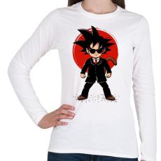 PRINTFASHION Goku - Ügynök - Női hosszú ujjú póló - Fehér