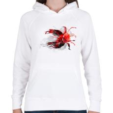 PRINTFASHION Goldfish - Női kapucnis pulóver - Fehér