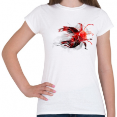 PRINTFASHION Goldfish - Női póló - Fehér
