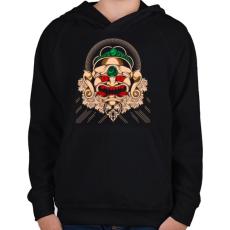 PRINTFASHION Gonosz maszk - Gyerek kapucnis pulóver - Fekete