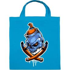PRINTFASHION Graffiti csontok - Vászontáska - Kék