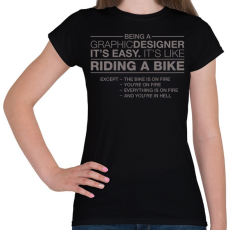 PRINTFASHION Graphic Designer - Női póló - Fekete