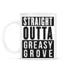 PRINTFASHION Greasy Grove - Bögre - Fehér