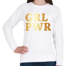 PRINTFASHION GRL PWR - Női pulóver - Fehér
