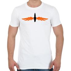 PRINTFASHION gyertya-szarny-orange-black - Férfi póló - Fehér