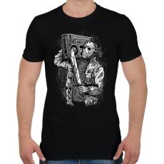 PRINTFASHION Gyilkos ütem - Férfi póló - Fekete