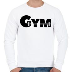 PRINTFASHION GYM - Férfi pulóver - Fehér