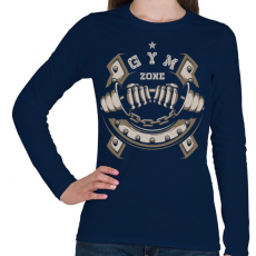 PRINTFASHION GYM ZONE - Női hosszú ujjú póló - Sötétkék