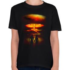 PRINTFASHION Háború és szerelem - Gyerek póló - Fekete