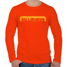 PRINTFASHION Halloween - Férfi hosszú ujjú póló - Narancs