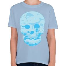 PRINTFASHION Halott tenger - Gyerek póló - Világoskék
