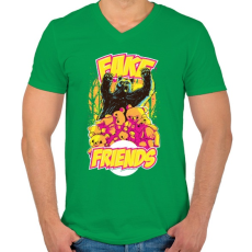 PRINTFASHION Hamis barát - Férfi V-nyakú póló - Zöld