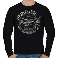 PRINTFASHION Három motoros repülőgép - Férfi pulóver - Fekete