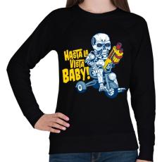 PRINTFASHION Hasta la vista baby! - Női pulóver - Fekete