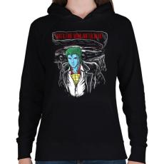 PRINTFASHION Határok - Női kapucnis pulóver - Fekete