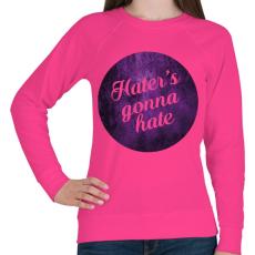 PRINTFASHION Hate - Női pulóver - Fukszia