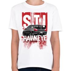 PRINTFASHION Hawkeye STI - Gyerek póló - Fehér