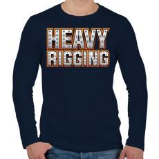 PRINTFASHION Heavy Rigging felirat - Férfi hosszú ujjú póló - Sötétkék