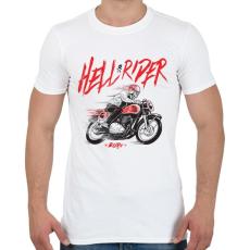 PRINTFASHION Hell Rider - Férfi póló - Fehér