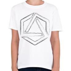 PRINTFASHION Hexagonal 4 - Gyerek póló - Fehér