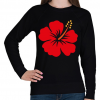 PRINTFASHION Hibiscus - Női pulóver - Fekete