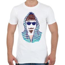 PRINTFASHION Hipszter - Férfi póló - Fehér
