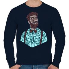 PRINTFASHION Hipszter - Férfi pulóver - Sötétkék