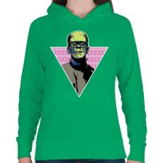 PRINTFASHION Hipszter gyár - Női kapucnis pulóver - Zöld